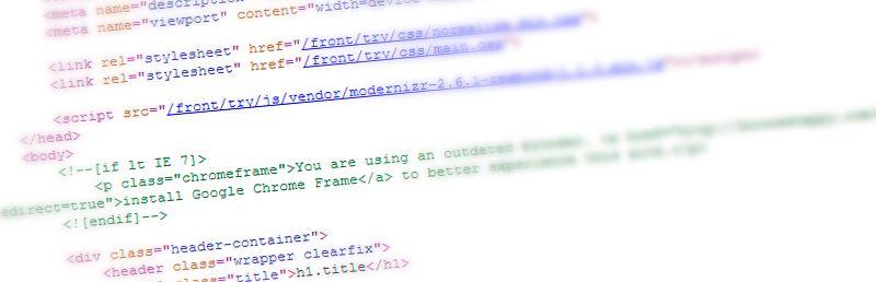Code html d'une page web