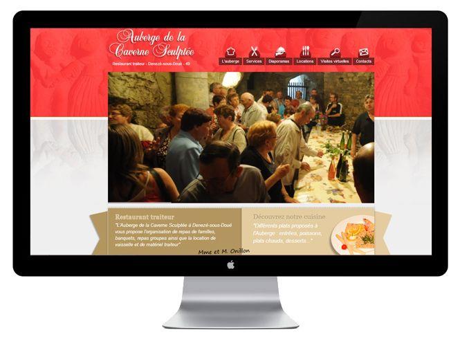 Site internet de l'Auberge de la carverne sculptée version bureauSite inter de l'Auberge de la carverne sculptée version bureau