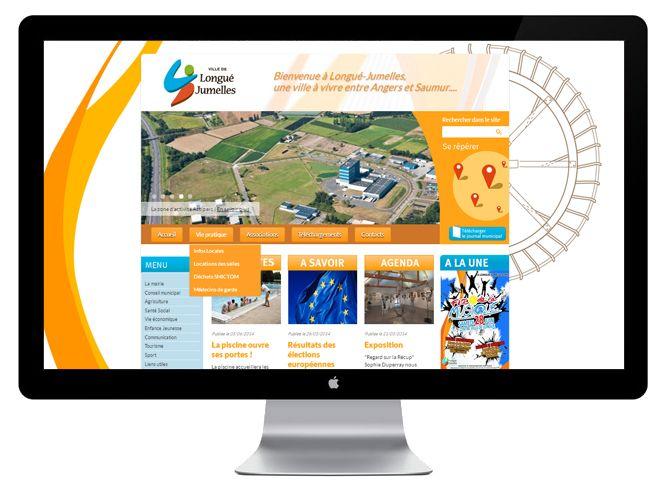 Page d'accueil site web ville de Longué-Jumelles