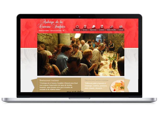 Site internet de l'Auberge de la carverne sculptée version portable