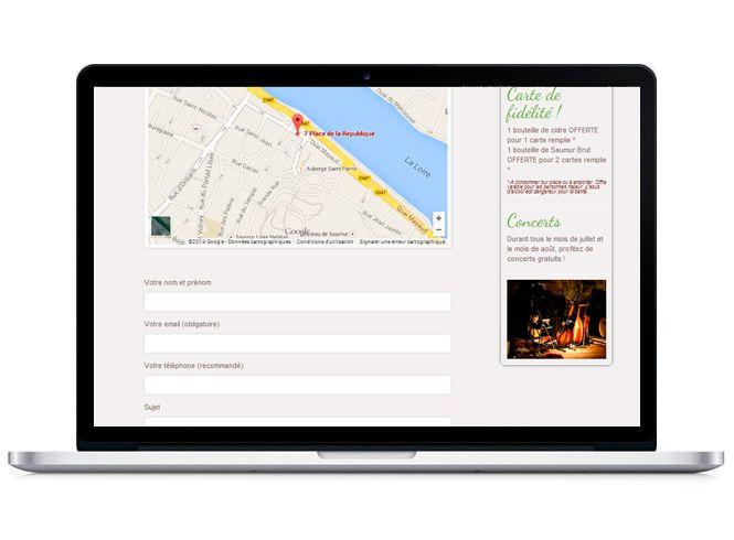 Site web Restaurant Côté jardin version portable