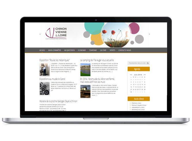 Site web Chinon Vienne Loire version portable