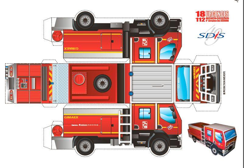 illustration graphique de camion de pompiers