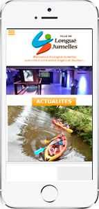 Version mobile site web ville de Longué-Jumelles