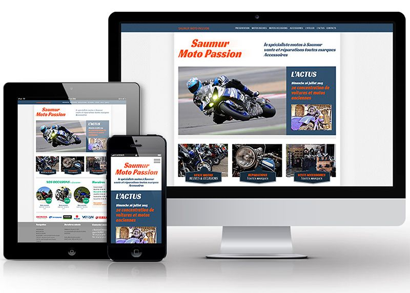 Site internet responsive : Saumur Moto Passion à Saumur