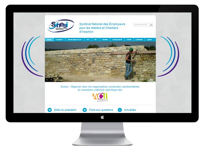 site internet Synesi version bureau