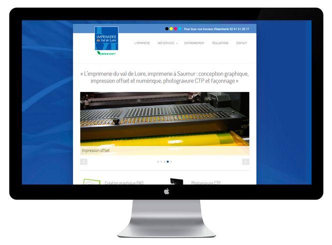Site web version bureau Imprimerie du Val de Loire