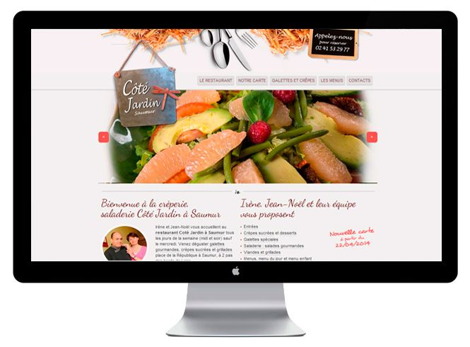 Site web Restaurant Côté jardin version bureau