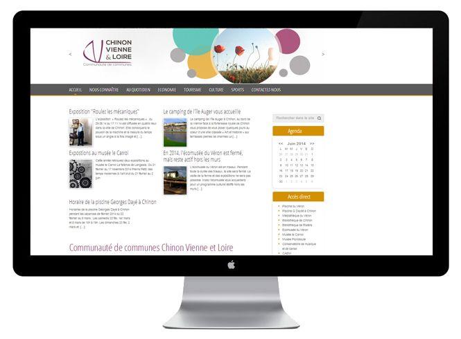 Site web Chinon Vienne Loire version bureau