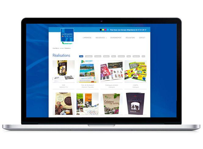 Portfolio site web imprimerie du val de Loire