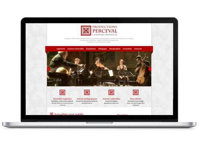 Site web version portable Productions Perceval