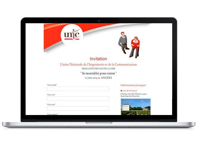 Formulaire de réservation de l'UNIC