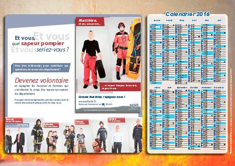 page intérieur calendrier des pompiers